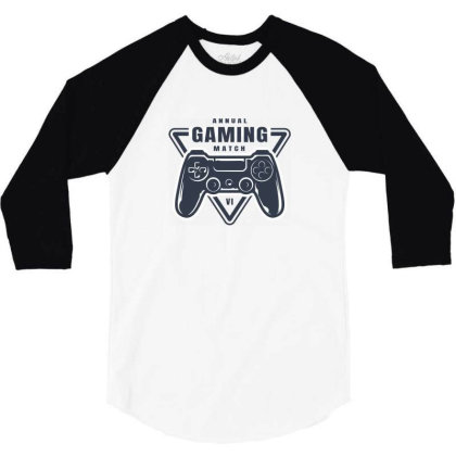 Annual Gaming Match 3/4 Sleeve Shirt Designed By Estore