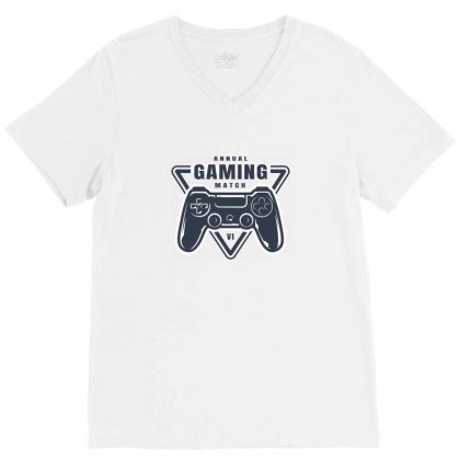 Annual Gaming Match V-neck Tee Designed By Estore