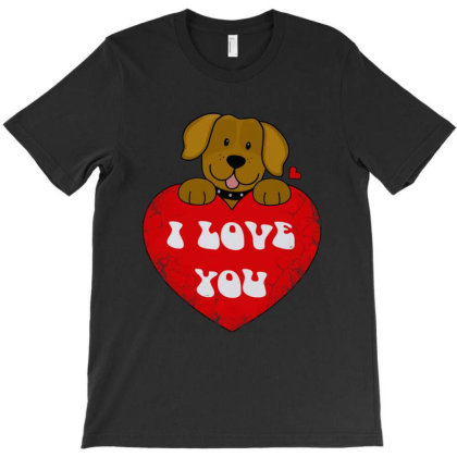 Love Dog T-shirt Designed By Diamond Tees