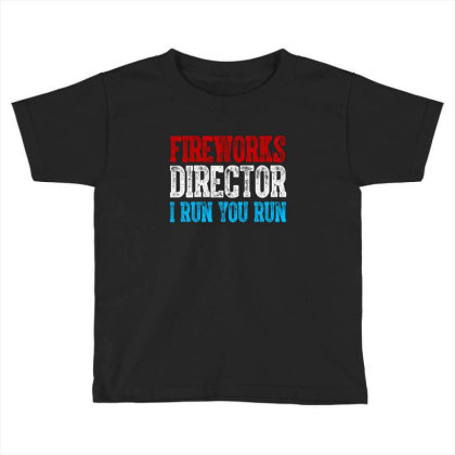 Fireworks Director Independence Day Patriotic Toddler T-shirt Designed By T-zone
