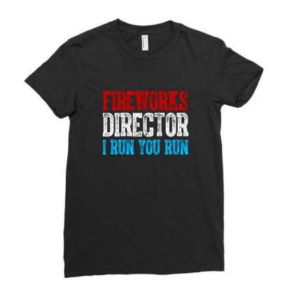 Fireworks Director Independence Day Patriotic Ladies Fitted T-shirt Designed By T-zone
