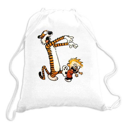 Calvin And Hobbes Halloween Zombie Drawstring Bags Designed By Roxanne