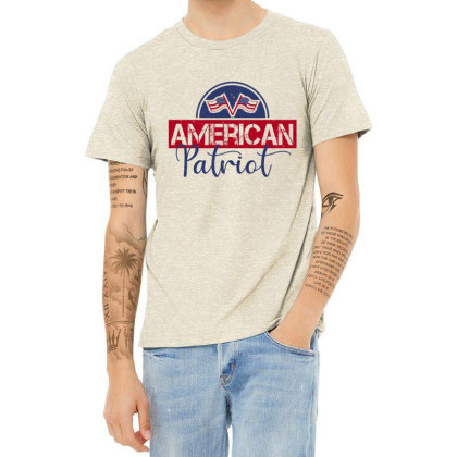 American Patriot Heather T-shirt Designed By Akinnocreations