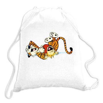 Calvin And Hobbes Laugh Drawstring Bags Designed By Roxanne