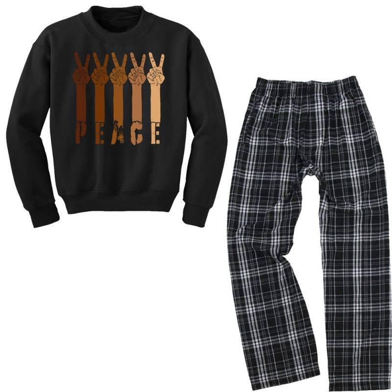 Peace Hand Youth Sweatshirt Pajama Set   Artistshot