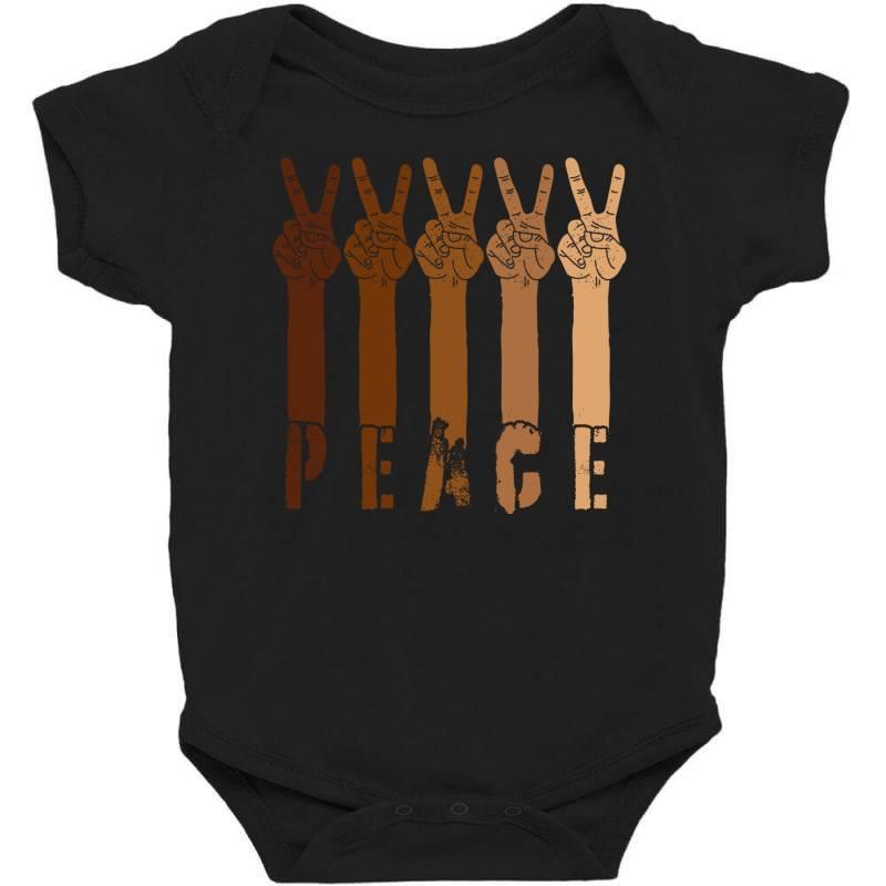 Peace Hand Baby Bodysuit | Artistshot