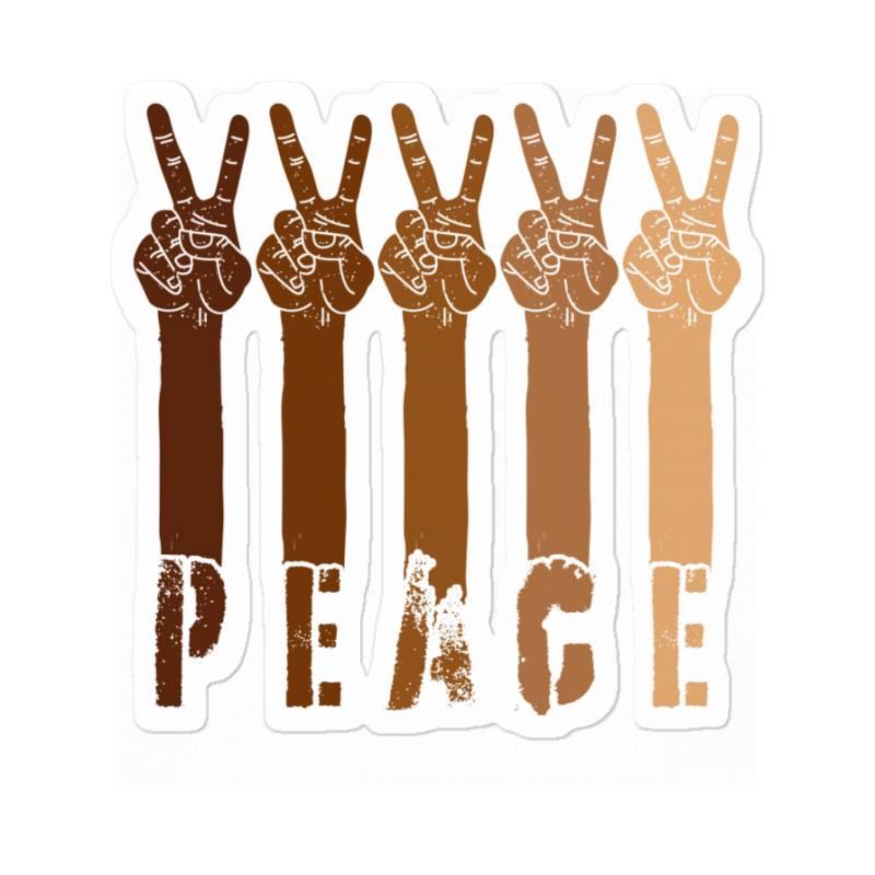 Peace Hand Sticker   Artistshot