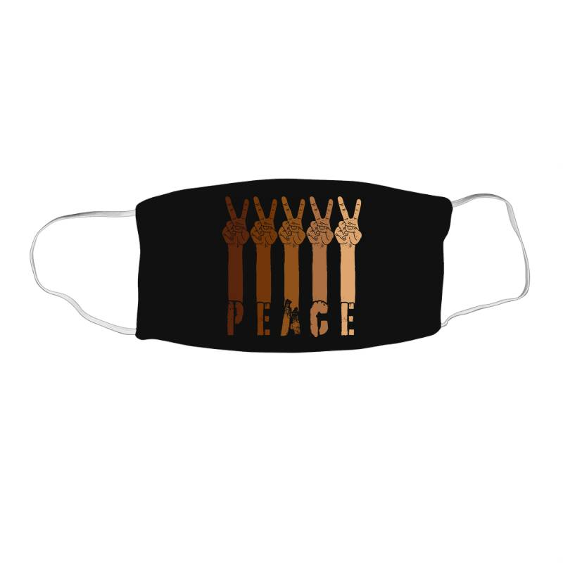 Peace Hand Face Mask Rectangle | Artistshot