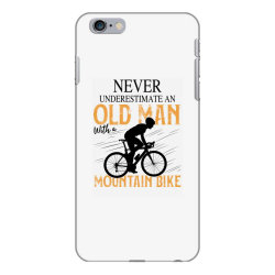 never underestimate and old man with a mountain bike black iPhone 6 Plus/6s Plus Case | Artistshot