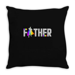 happy father day pride t shirt Throw Pillow | Artistshot
