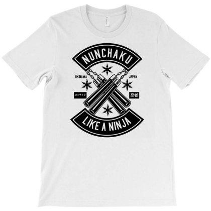 Nunchaku T-shirt Designed By Rulart