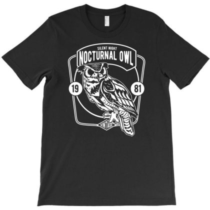 Nocturnal Owl T-shirt Designed By Rulart