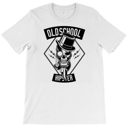 Old School Hipster 1 T-shirt Designed By Rulart