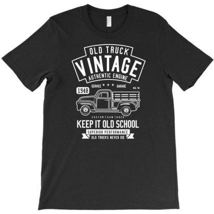 Old Truck Vintage T-shirt Designed By Rulart