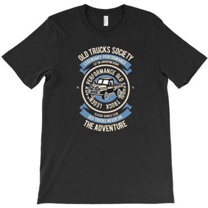 Old Trucks Society T-shirt Designed By Rulart