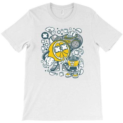 Orange Boombox T-shirt Designed By Rulart