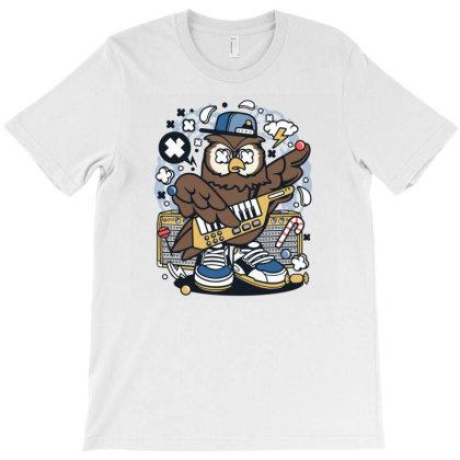 Owl Pop Star T-shirt Designed By Rulart