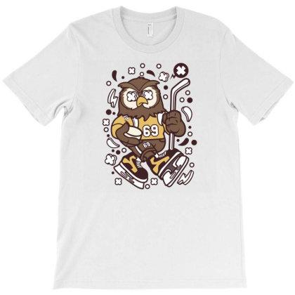 Owl Hockey T-shirt Designed By Rulart
