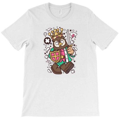 Owl King T-shirt Designed By Rulart