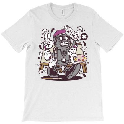 Painter Robot T-shirt Designed By Rulart