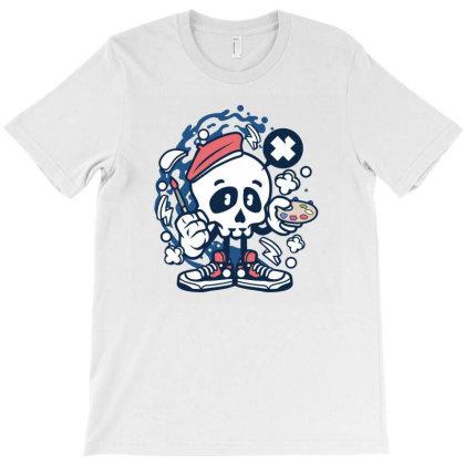 Painter Skull T-shirt Designed By Rulart