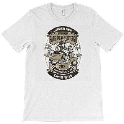 Paris Dakar Scooterist T-shirt Designed By Rulart
