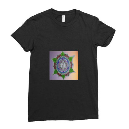 Load Gautam Buddha Ladies Fitted T-shirt Designed By Dyaneshwari Suresh Sakhare