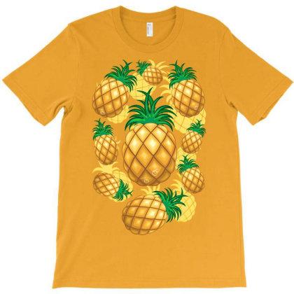 Pineapple Juicy Pattern T-shirt Designed By Thechameleonart