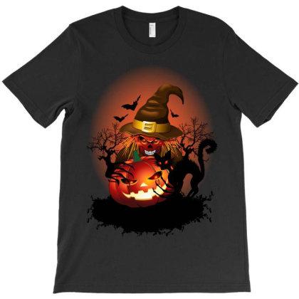 Skull Witch Halloween Monster T-shirt Designed By Thechameleonart