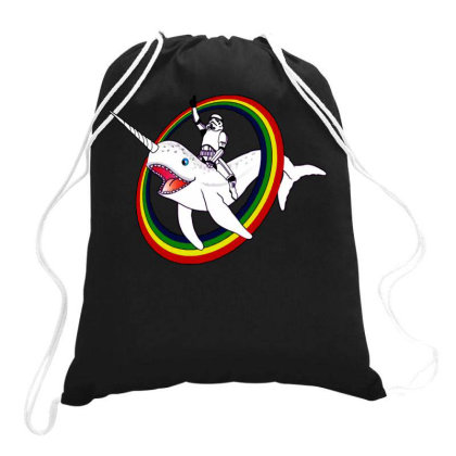 Narwhal Funny Circus Drawstring Bags Designed By Diamond Tees
