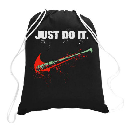 Let's Just Do It Drawstring Bags Designed By Diamond Tees