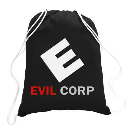 Evil Corp Drawstring Bags Designed By Feniavey