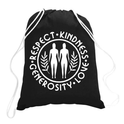 Brave Space On White Drawstring Bags Designed By Feniavey