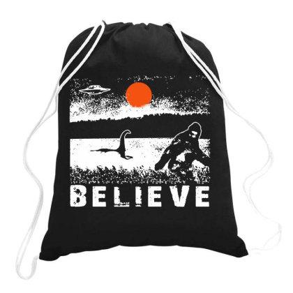 Believe Drawstring Bags Designed By Feniavey