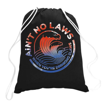Trevor Wallace White Claw Drawstring Bags Designed By Pinkanzee