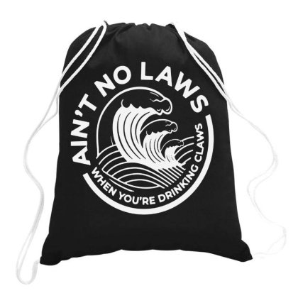 Trevor Wallace White Claw For Dark Drawstring Bags Designed By Pinkanzee