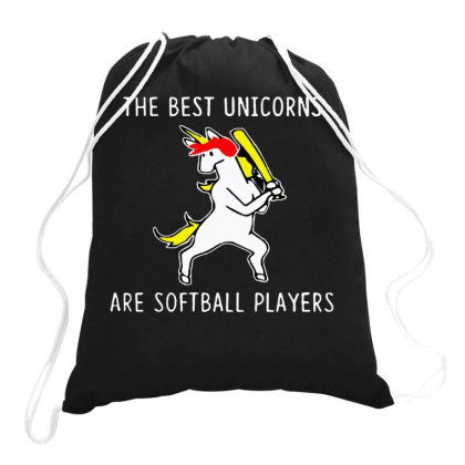 The Best Unicorns Are Softball Player Drawstring Bags Designed By Pinkanzee