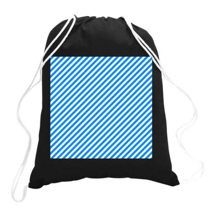 Blue Gradient Line Art Drawstring Bags Designed By American Choice