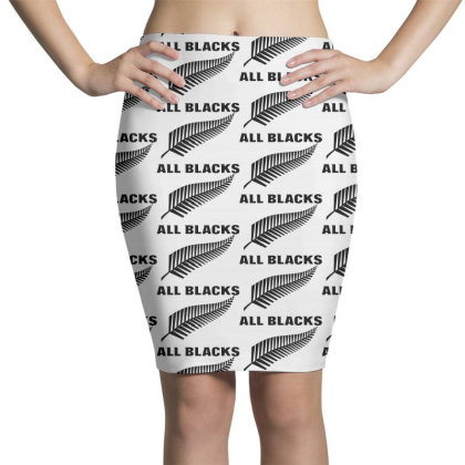 New Zealand All Blacks Pencil Skirts Designed By Pinkanzee