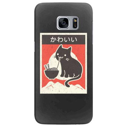 Vintage Style Japenese Ramen Cat Samsung Galaxy S7 Edge Case Designed By Pinkanzee
