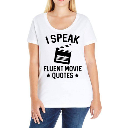 I Speak Fluent Movie Quotes Ladies Curvy T-shirt Designed By Pinkanzee
