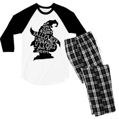 Happy Day Men's 3/4 Sleeve Pajama Set Designed By Pinkanzee