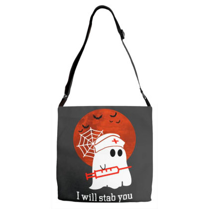 I Will Stab You Adjustable Strap Totes Designed By Pinkanzee