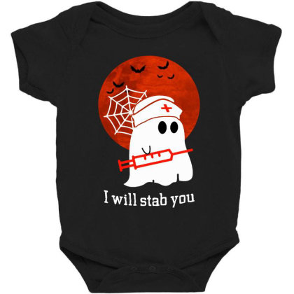 I Will Stab You Baby Bodysuit Designed By Pinkanzee