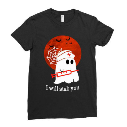 I Will Stab You Ladies Fitted T-shirt Designed By Pinkanzee
