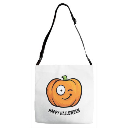 Happy Halloween Adjustable Strap Totes Designed By Pinkanzee