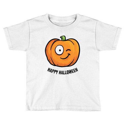 Happy Halloween Toddler T-shirt Designed By Pinkanzee