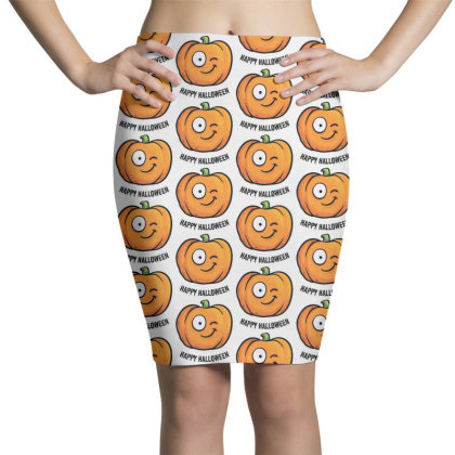 Happy Halloween Pencil Skirts Designed By Pinkanzee