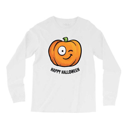 Happy Halloween Long Sleeve Shirts Designed By Pinkanzee