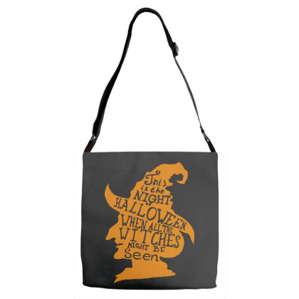 Happy Halloween Day Adjustable Strap Totes Designed By Pinkanzee